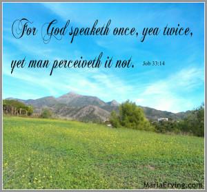 God repeats Himself