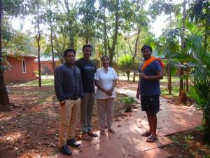 Staff and manager of Yoga Vimokhsha in Goa, India.