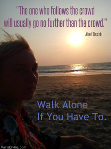 Albert Einstein quote about not following the crowd.