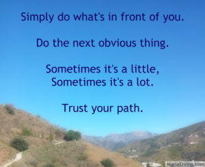 trust the path you're on