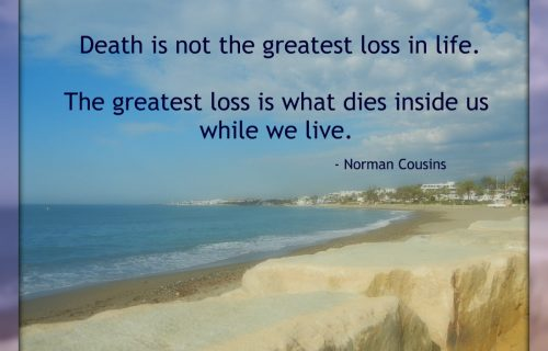 death as a reminder to live fully