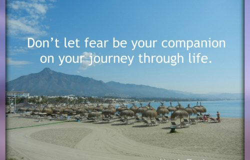 Don't let fear be your companion on your journey through life.