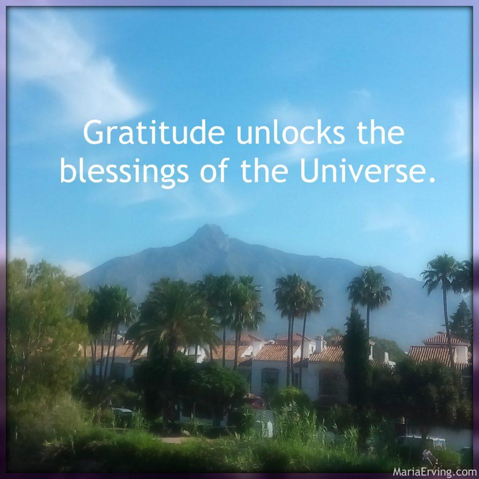 Gratitude unlocks the blessings of the Universe
