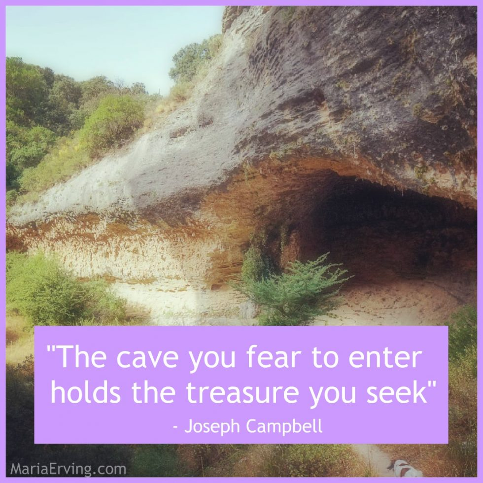 Joseph Campbell quote about cave