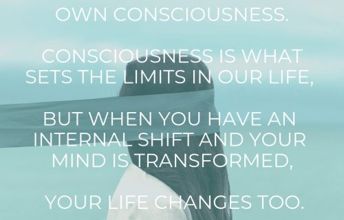 consciousness is the only limit, maria erving quote
