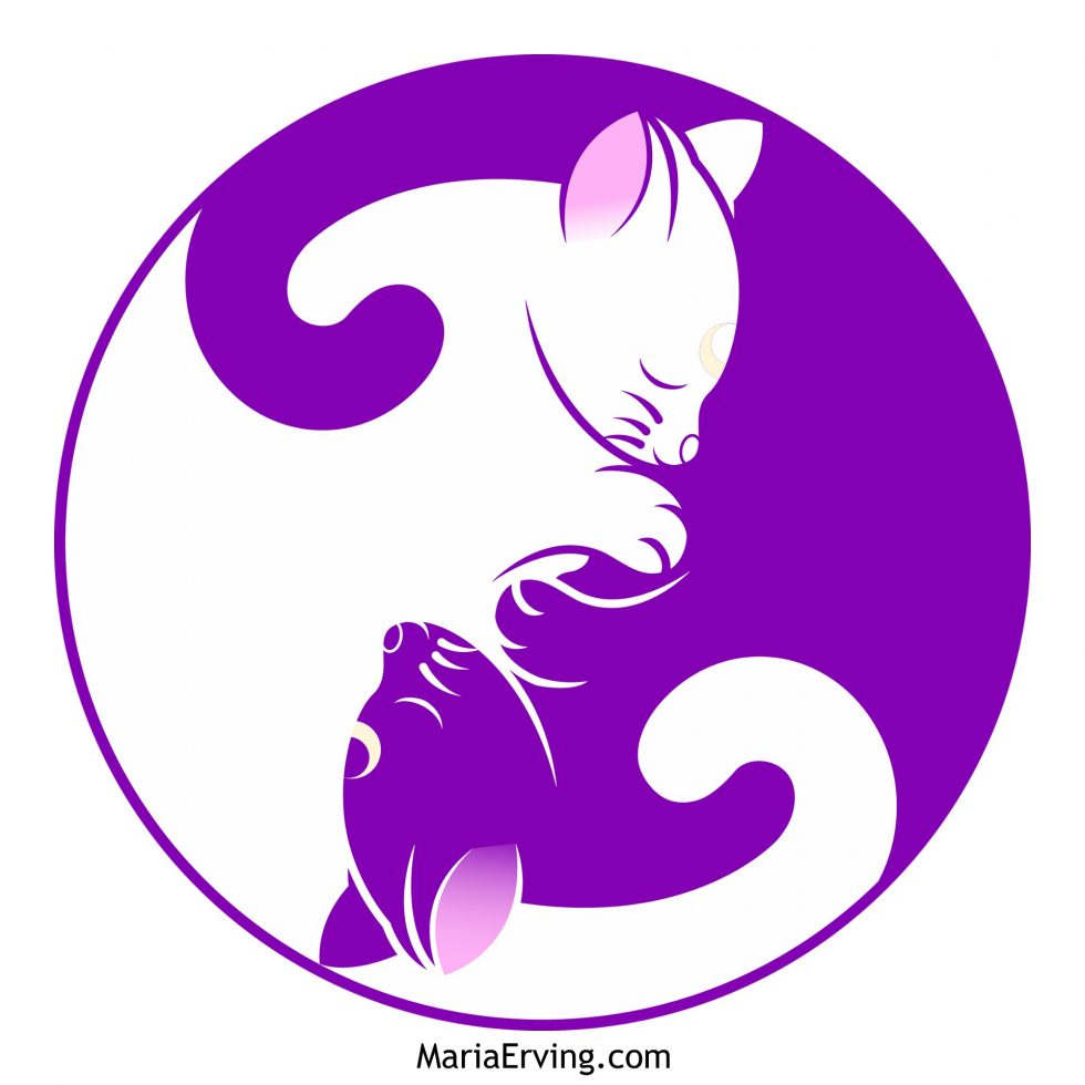 Tao of Pooh quote, Yin Yang cats