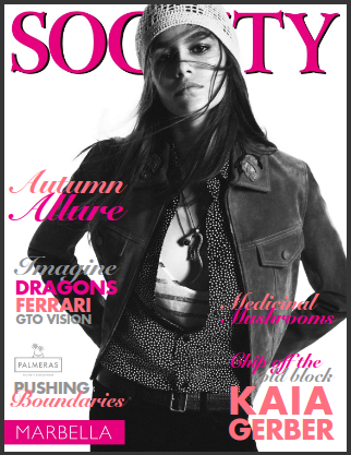 Society Marbella Magazine October 2019, Kaia Gerber