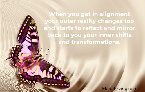 Manifesting happens when you get in alignment