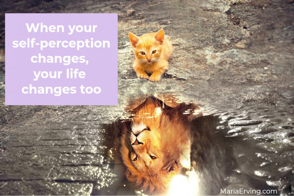 when your self-perception changes, your life changes too