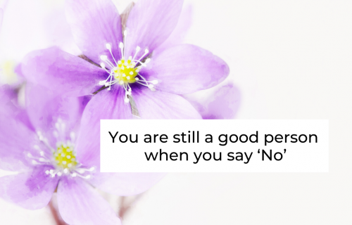 You are still a good person when you say 'No'